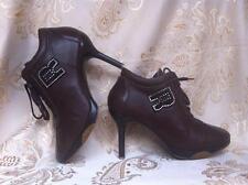 Scarpe decoltè stivaletti RUCOLINE color cuoio tacco a spillo 8 cm 36 (x 37 it.)