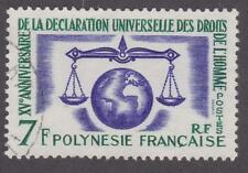 French Polynesia 1963 #206 Human Rights  - Used