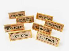 BoyzToyz RY328 Novelty Desk Sign Gold Manager Top Dog Playboy Boss Pimp Assorted