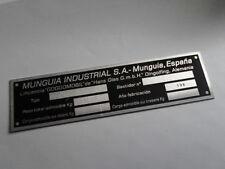 targa ì Munguia Goggomobil Vetro segno placca tag targhetta identificazione S3