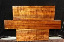 Hawaiian Curly Koa 3 PC. Billets # O-3