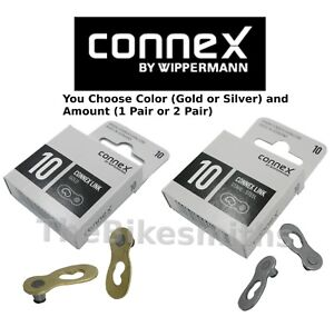 Wippermann Connex 10 Speed Bike Chain Connector Master Link Brass Gold or Silver