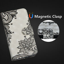 Magnetic Flip Wallet Card PU Strap Leather Stand Case Cover For Samsung Huawei