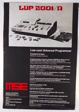 MSE Universal chip Programmer LUP 2001/A NOS Brochure Italian C.O.A.M.