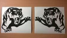 tiger claws x2 fuel gas tank motorbike car vinyl side stickers racing triumph tt
