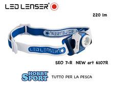 LAMPADA FRONTALE LED LENSER MOD. SEO 7 R - COLORE BLUE