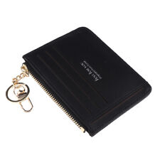 Men Women Short Leather ID Credit Card Holder Casual Mini Wallet Coin Purses
