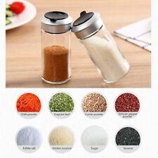Pepper Salt Spice Storage Seasoning Shaker Kitchen Pot Condiments Glass Supplies