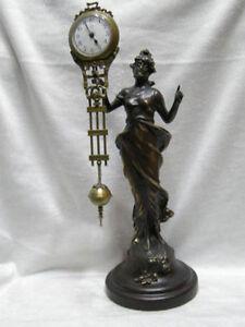 Wonderful attractive Copper Statue Belle Swing Machine Clock