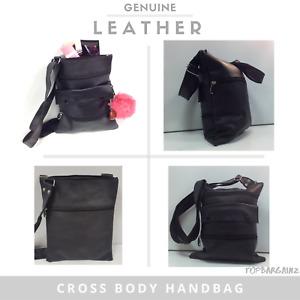 Genuine Leather Shoulder Bag Ladies Cross Body Handbag Womens Satchel Messenger