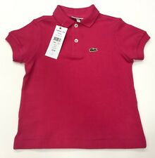 Lacoste Boy's Polo Shirt Short Sleeves in Pink Size 3 Years