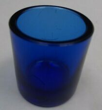 Blue Glass Salt or Inkwell Liner 3 1/2cms tall x 3 1.4cms wide