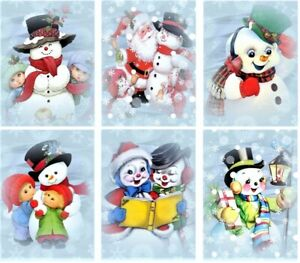 Christmas Happy Snowman - Glossy Finish Card Making Toppers Embellishments