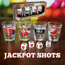 Jackpot Shots Alcohol fruit machine drinking game Novelty shot glasses with dice