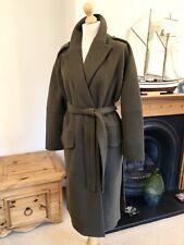 Zara Khaki Green Wool Oversized Belted Coat S UK10 Bnwt