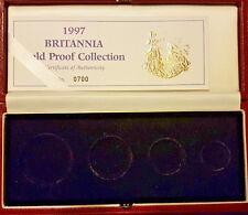 1997 GOLD PROOF BRITANNIA 4 FOUR COIN SET  BOX&COA ONLY