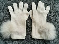 🌟MARELLA by MAX MARA  Knitted  Fox Fur-WOOL&Cashmere Blend  Gloves   One size