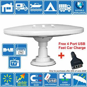 Helio Magnétique USB Camping-Car Bateau Camion Numérique Omni Directionnel TV Fm