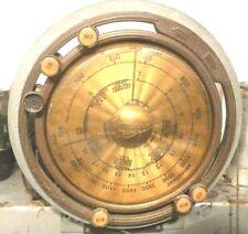 vintage GRUNOW MODEL 589 TUBE RADIO:  Untested 5U CHASSIS w/ TELEDIAL & 5 TUBES