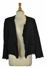 Ann Taylor LOFT Women Coats & Jackets Blazers 8 Black Cotton