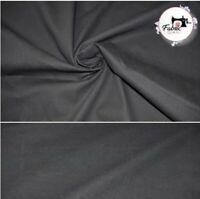 "Medium Black weight Washed Denim 100% Cotton Fabric 58""High Quality"