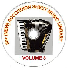 80+ SONGS! - HUGE VINTAGE ACCORDION SHEET MUSIC COLLECTION! - CD#8 of 10