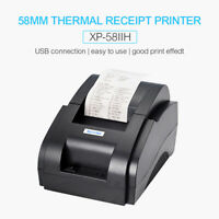 XP-58IIH 58mm Thermal Receipt Pirnter POS Printer USB Port 90mm/s for Restaurant