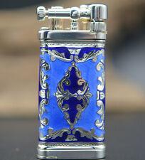Sillems IM Corona Old Boy Linea Blue 925 Sterling-Silber Pfeifen Feuerzeug
