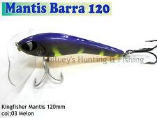 Kingfisher Mantis Barra 120mm Cod surface fishing lure; 03 melon NEW 2017