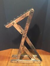 Antique Primitive Wood and Cast Iron Wagon Carriage Buggy Jack
