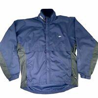 Nordictrack Men's Medium Illuminite Windbreaker Jacket Blue Reflective