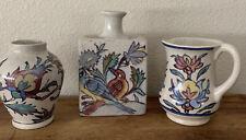 Vintage Pottery Barn Iznik Vase Lot Of 3