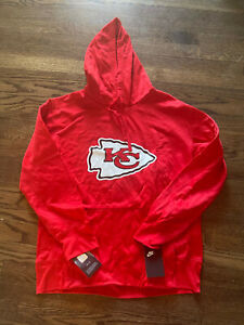 Mens Size Large L Kansas City Chiefs Red Arrowhead Hoodie NWT Hoody