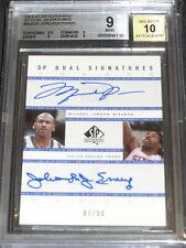 2001-02 UD SP Dual Auto Signatures Michael Jordan Julius Erving #7/50 BGS 9 10