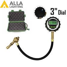 "3"" Dial Rapid Deflator Digital Tire Pressure Gauge 60PSI Back Light Easy Reading"