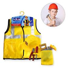 Construction Worker Costume Girl Boy Role Play Kit Set