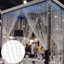 10M Garland Diamond Strand Acrylic Crystal Bead Curtain Wedding Party Decor DIY