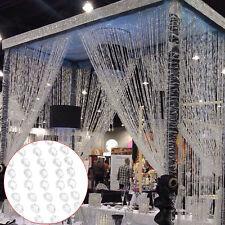 10M Garland Diamond Strand Acrylic Crystal Bead Curtain Wedding Party Decor DIY