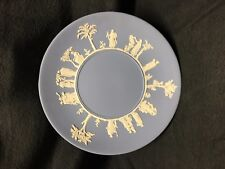 Wedgwood Jasperware - Blue Olympus Plate with ornate border -Mint 9 1/2""