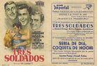 Programa PUBLICITARIO de CINE: TRES SOLDADOS.