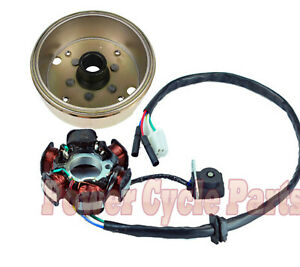 Chanoc 8 Poles Flywheel Assembly for GY6 125cc 150cc ATV Moped Quad Scooter
