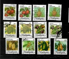 Malaysia, 1986 Fruits, complete set used with both perfs of lower values (M447)