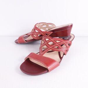 Naturalizer Rimmer DK VENOM Leather Wedge Slide Sandals Size 8.5W