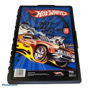 2011 Mattel Tara Hot Wheels Plastic Case Holds 48 Cars VGUC