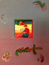 "Peter Max, ""UMBRELLA MAN"" Mixed Media Signed Painting"
