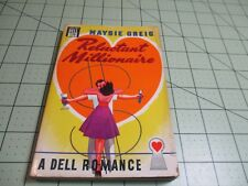RELUCTANT MILLIONAIRE BY MAYSIE GREIG  (1947)  PULP ERA DELL ROMANCE MAPBACK