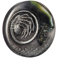 Tuvalu - 2 Dollar 2019 - Alien™ - 40. Jubiläum - 2 Oz Silber Antik Finish