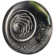 Tuvalu 2 Dollar 2019 ALIEN™ - 40. Jubiläum - 2 Oz Silber Antik Finish