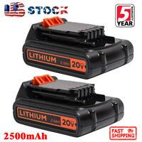 2X LBXR20 20V MAX Lithium Cordless Battery For Black&Decker LCS1620 LDX220 2.5AH