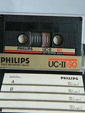 Philips UC-II 60 1985-1986 Made in Belgium  UNBESCHRIFTET AUFKLEBER Cassette MC